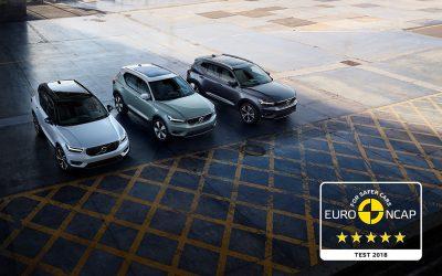 Volvo XC40 erhält fünf Sterne im Euro NCAP-Test